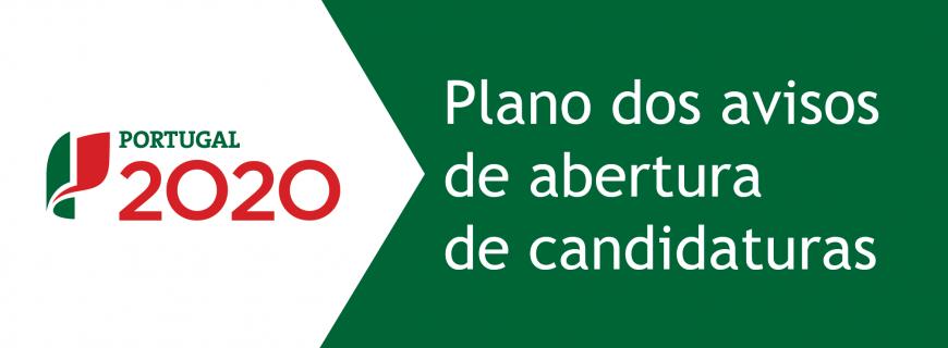 Novo Plano de Avisos candidaturas 2016 – Portugal2020
